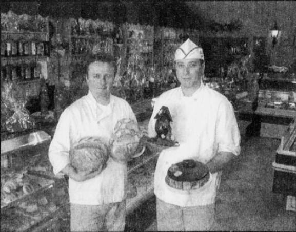 Philippe et François Fagnoul dans la pâtisserie en 1997