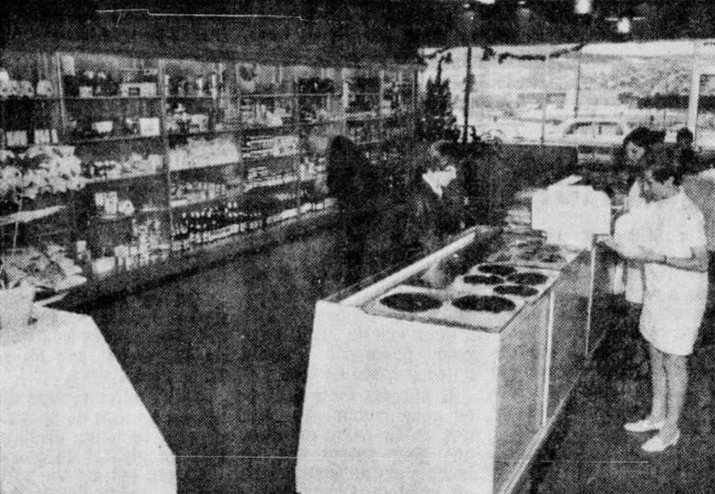 Local de la pâtisserie Liégeoise lors de l'ouverture en 1968