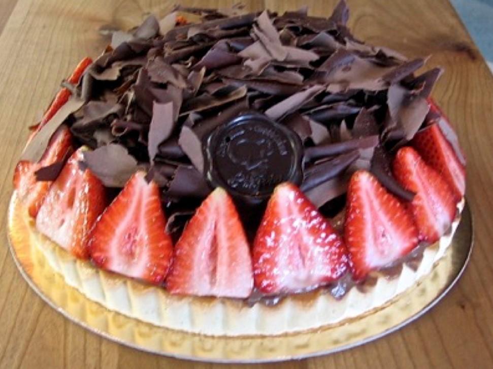 tarte choco fraises patisserie la liegeoise sherbrooke